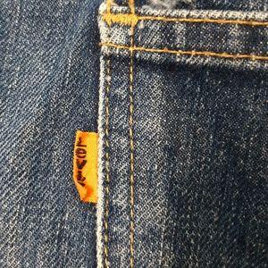 Vintage orange tab Levi's 646 blue jeans